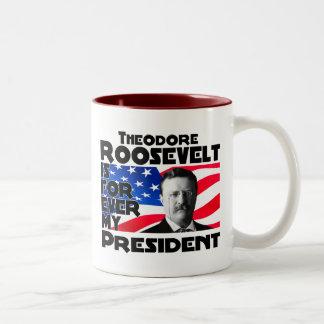Teddy Roosevelt Forever Two-Tone Coffee Mug