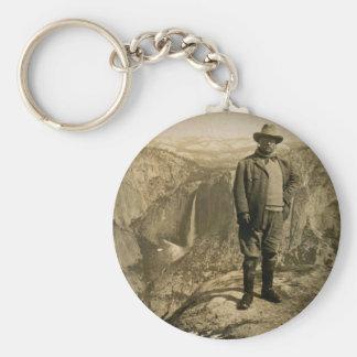 Teddy Roosevelt Glacier Point Yosemite Valley Basic Round Button Keychain