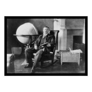 Teddy Roosevelt in Repose 1908 Poster