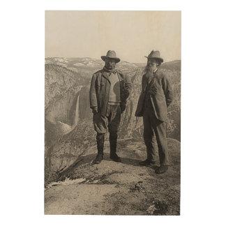 Teddy Roosevelt John Muir Glacier Point Yosemite Wood Wall Decor