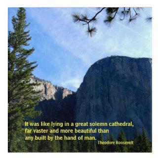 Teddy Roosevelt on Yosemite Acrylic Print