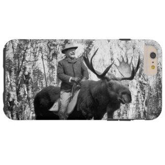 Teddy Roosevelt Riding A Bull Moose Case Tough iPhone 6 Plus Case