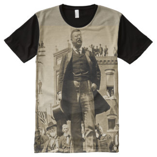 Teddy Roosevelt Speaks to Crowd 1905 Bull Moose All-Over-Print T-Shirt
