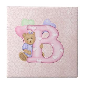 Teddy Tots Monogram B Tiles