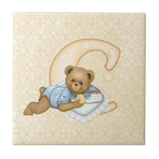 Teddy Tots Monogram C Ceramic Tiles