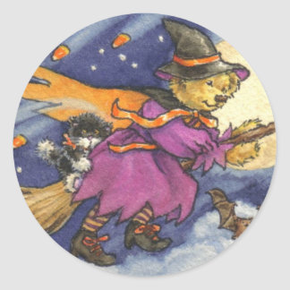Teddy Witch Sticker