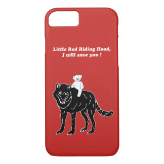 Teddy & wolf, Little Red Riding Hood, mobile phone Case-Mate iPhone Case