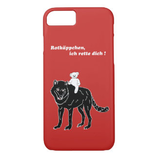 Teddy & wolf, Little Red Riding Hood, mobile phone iPhone 8/7 Case