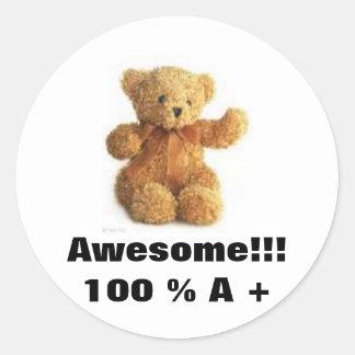 Teddybear Awesome Stickers