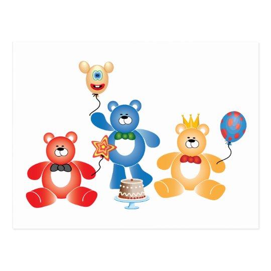 Teddybear Party Postcard