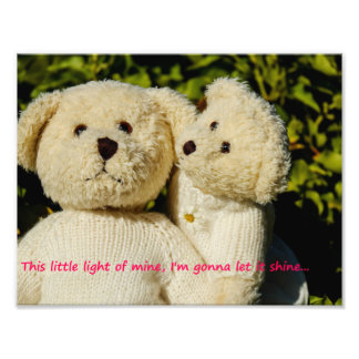 Teddybear print, nursery room decor photo print