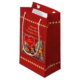 Teddybears Baby Shower (customizable) Small Gift Bag