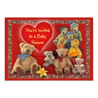 TeddyBears Baby Shower Invitation