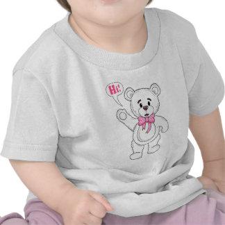 TeddyBearSayingHiWhite.png T-shirts