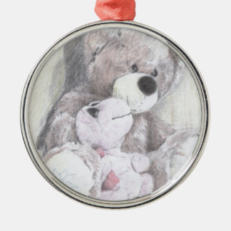 Teddy's best friend turtle metal ornament