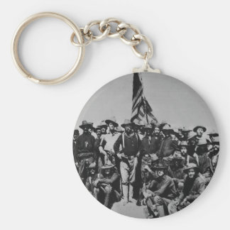 Teddy's Colts Teddy Roosevelt Rough Riders 1898 Basic Round Button Keychain
