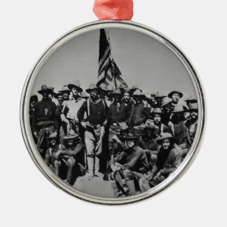 Teddy's Colts Teddy Roosevelt Rough Riders 1898 Silver-Colored Round Ornament