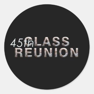 TEE 45th Class Reunion Round Sticker