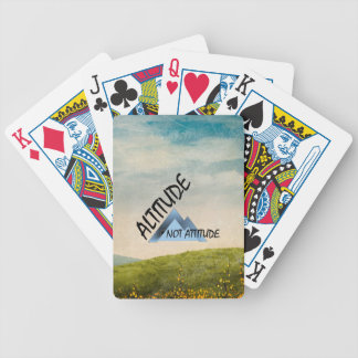 TEE Altitude Not Attitude Bicycle Playing Cards