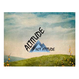 TEE Altitude Not Attitude Postcard