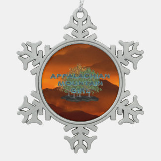 TEE Appalachian Mountain Girl Pewter Snowflake Ornament