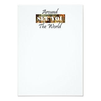 "TEE Around the World 5"" X 7"" Invitation Card"