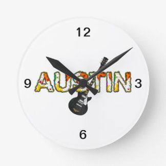 TEE Austin Round Clock