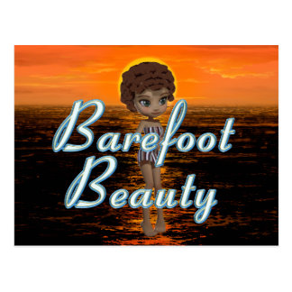 TEE Barefoot Beauty Postcard