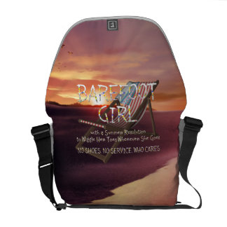 TEE Barefoot Girl Courier Bags