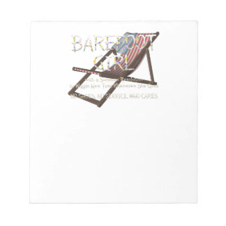 TEE Barefoot Girl Notepad