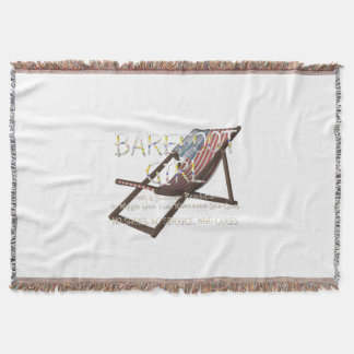 TEE Barefoot Girl Throw Blanket