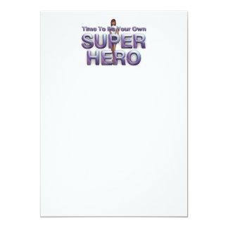 "TEE Be Own Superhero 5"" X 7"" Invitation Card"