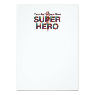 TEE Be Own Superhero 5x7 Paper Invitation Card