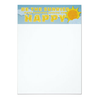 TEE Be the Sunrise 5x7 Paper Invitation Card