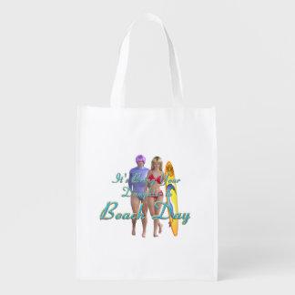 TEE Beach Day Reusable Grocery Bag