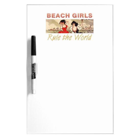 TEE Beach Girls Rule the World Dry Erase Whiteboard