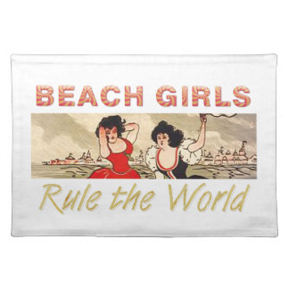 TEE Beach Girls Rule the World Placemats