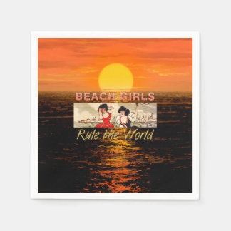 TEE Beach Girls Rule World Disposable Napkins