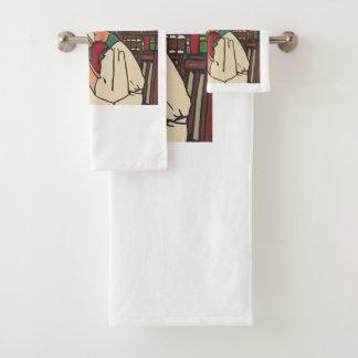 TEE Book Worm Bath Towel Set