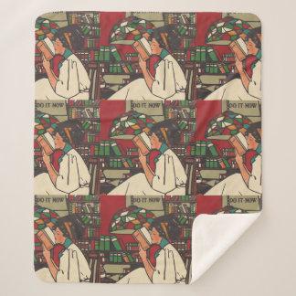 TEE Book Worm Sherpa Blanket