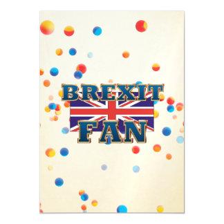 TEE Brexit Fan Magnetic Invitations