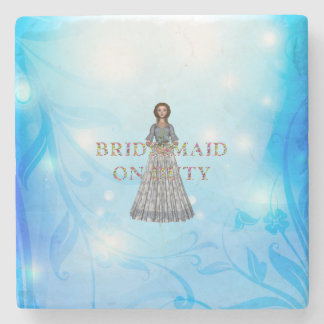 TEE Bridesmaid On Duty Stone Coaster