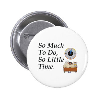 TEE Busy Time 2 Inch Round Button