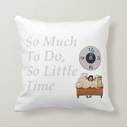 TEE Busy Time Throw Pillow