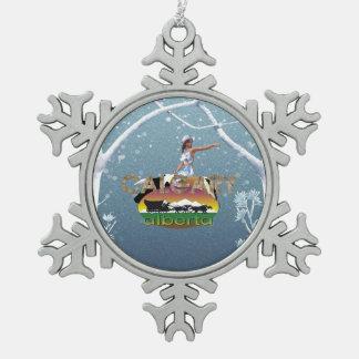 TEE Calgary Pewter Snowflake Ornament