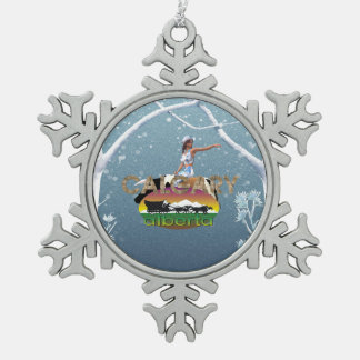 TEE Calgary Snowflake Pewter Christmas Ornament