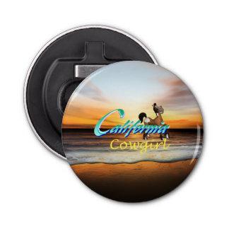 TEE California Cowgirl Button Bottle Opener