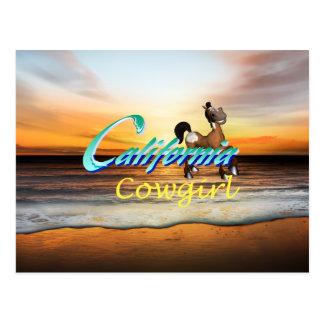 TEE California Cowgirl Postcard