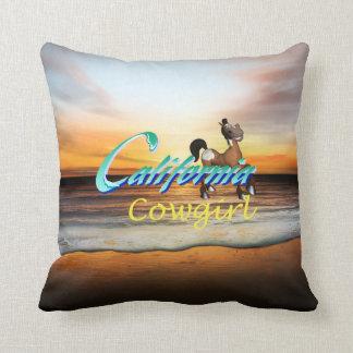 TEE California Cowgirl Throw Pillow