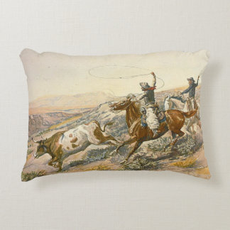 TEE Cattle Drive Decorative Pillow